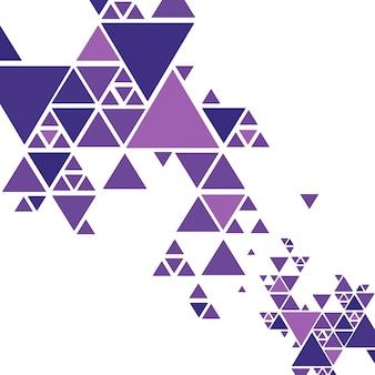 美しいカラフルな三角形の背景ベクトル
