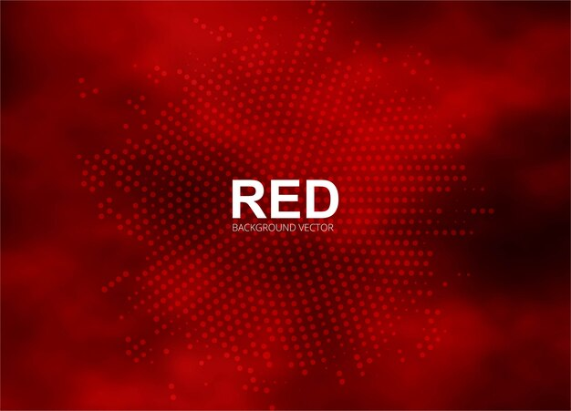 抽象的な赤のハーフトーンの背景イラスト
