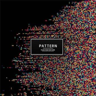 抽象的なカラフルな点線パターンの背景イラスト