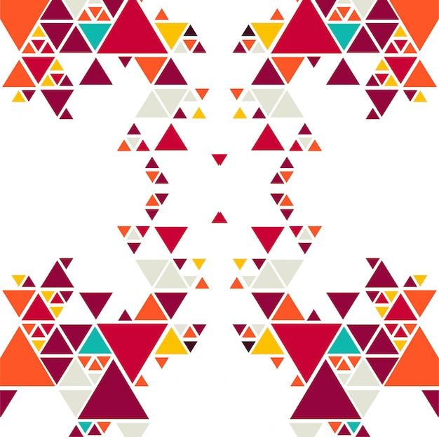 Абстрактный красочный фон в виде треугольника