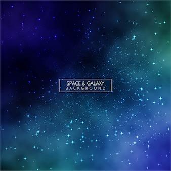宇宙カラフルな銀河の背景