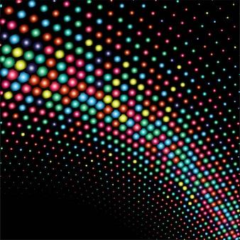 抽象的な光るカラフルなドット波の背景