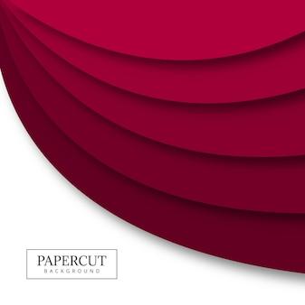 Цветной волнистый дизайн паперкута