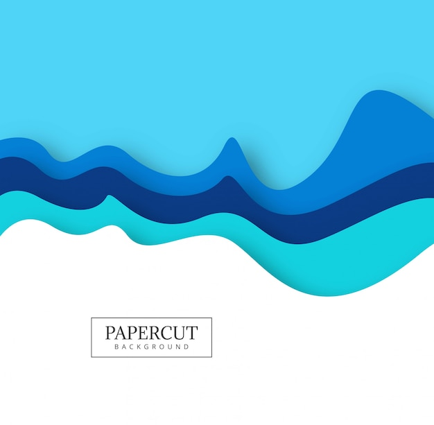 抽象的なカラフルなペーパーカットクリエイティブな波の設計