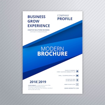 ビジネスパンフレットクリエイティブテンプレートデザインベクトル