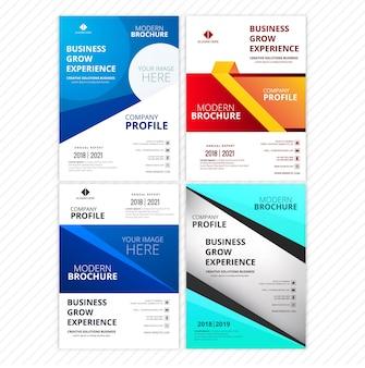 現代的なスタイリッシュなビジネスパンフレットカード