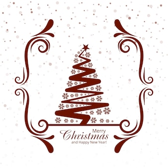 カードフェスティバルの背景とメリークリスマスツリー