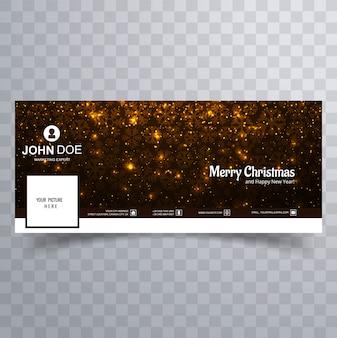 美しいメリークリスマスのフェイスブックカバーテンプレートデザイン