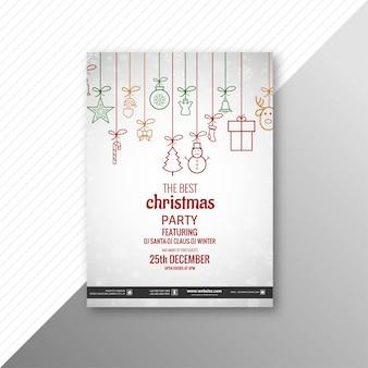 メリークリスマスパーティーフライヤーテンプレートの背景ベクトル