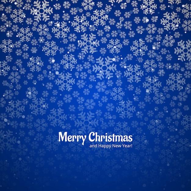 スノーフレーク装飾メリークリスマスカードの背景