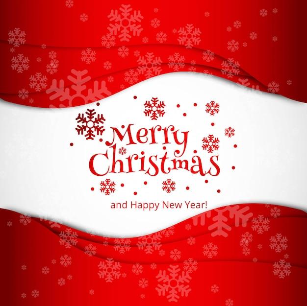メリークリスマスの祝賀カードデザインベクトル