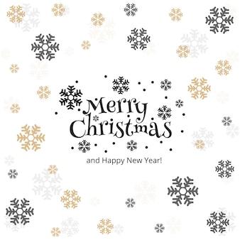メリークリスマススノーフレークカードの背景