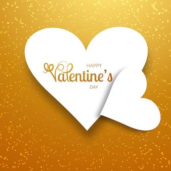 バレンタインの日カラフルハートカード背景イラスト