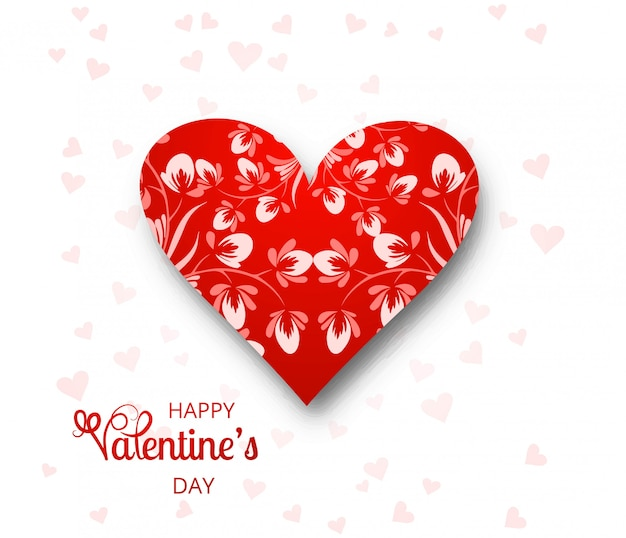 美しいバレンタインの日カードの背景イラスト