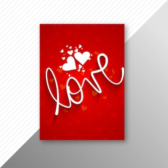 美しいバレンタインの日カードパンフレットテンプレート背景