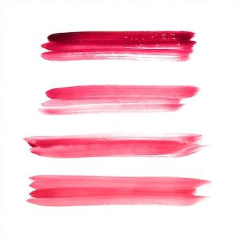 手描きのストロークのカラフルな水彩ベクトル
