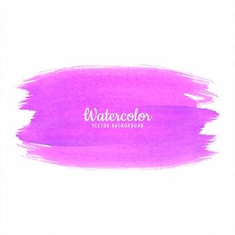 抽象的なピンクの手描きのストロークの水彩画デザイン