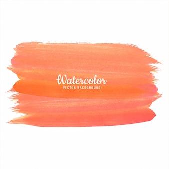 抽象的なオレンジ色の手描きの水彩画のデザイン