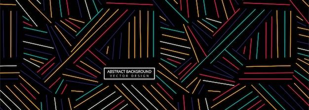 抽象的なカラフルな幾何学的な線のヘッダーの背景