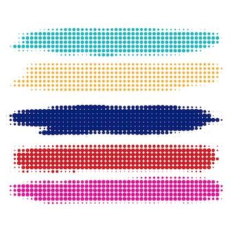 Набор абстрактных красочных полутонов