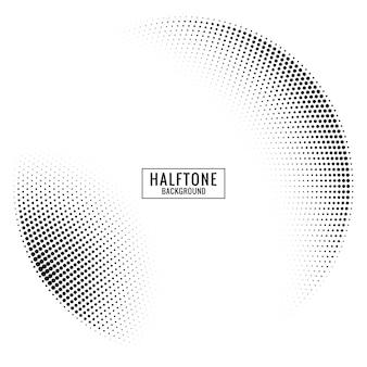 円形ハーフトーンの背景