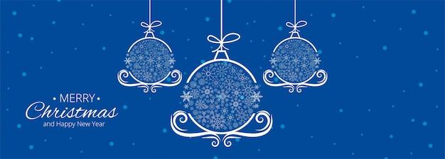 クリスマスのお祝いカードバナーテンプレートベクトルイラスト