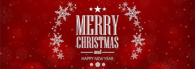 美しいクリスマススノーフレークカードお祝いバナー