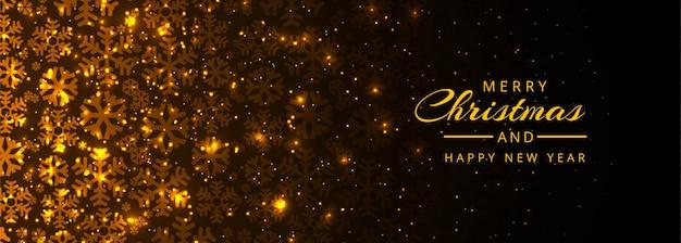 Шаблон баннера с новым годом и рождеством