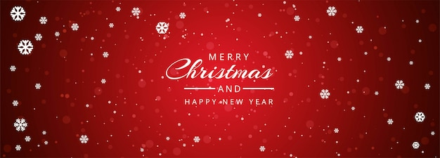 装飾雪片でクリスマスのウェブサイトのバナー