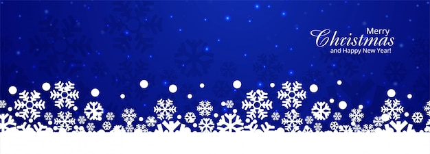 クリスマス雪カードバナーイラスト
