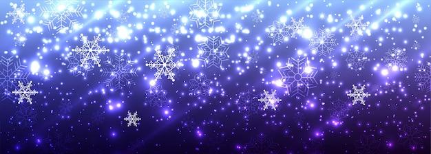 美しいメリークリスマス光沢のある光るバナー