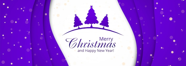 木とクリスマスバナーテンプレート
