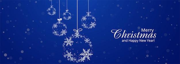 Рождественский баннер шаблон со снежинками