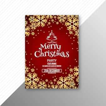 美しいメリークリスマスグリーティングカードテンプレート