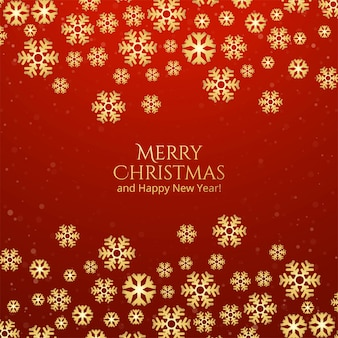メリークリスマスの装飾的な雪カードと幸せな新年の背景