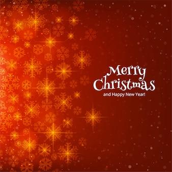 メリークリスマススノーフレークカード冬の背景