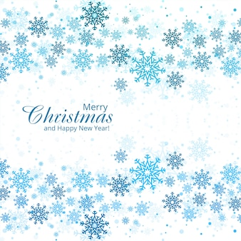 美しいクリスマススノーフレークカード
