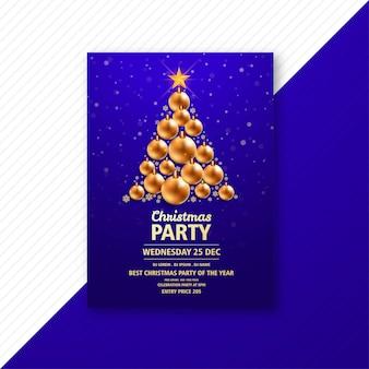 創造的なクリスマスチラシテンプレートカード