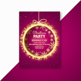 クリスマスパーティーのフライヤーテンプレートカードパンフレット