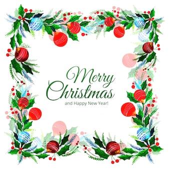 Счастливого рождества, декоративный лист, праздник