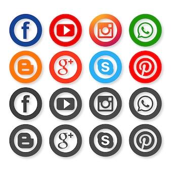 ソーシャルネットワーキングのアイコン