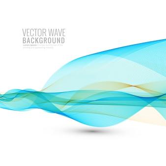 白い背景の上の抽象的な流れるビジネス波