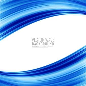 Современная голубая волна фон