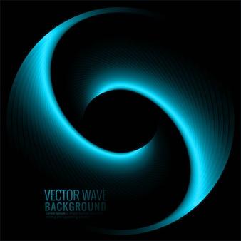 抽象的な青い光る波背景