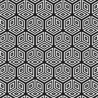 モダンな抽象的な幾何学的なシームレスパターン