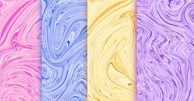 多くの色で設定された美しい液体カバー