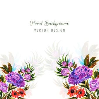 装飾的なカラフルな花の背景のベクトル