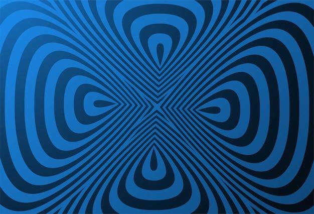 ジグザグ線の背景を持つ幾何学的な創造的なパターン
