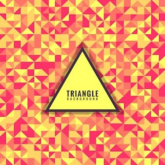 抽象的なカラフルな三角形のモザイクグリッド