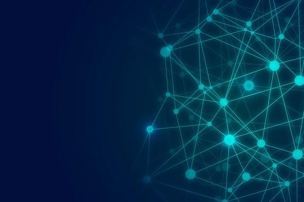 Абстрактный фон технологии провода многоугольника
